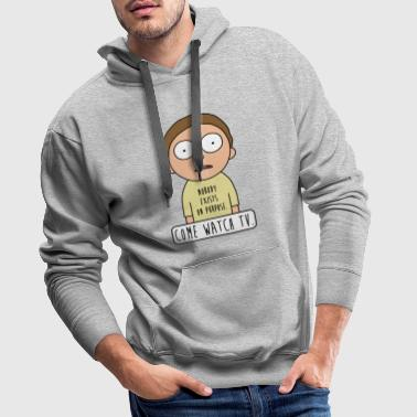 Rick And Morty Come Watch TV Quote - Mannen Premium hoodie
