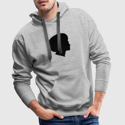 Africans with African Silhouette (Funk / Soul Style) - Men's Premium Hoodie