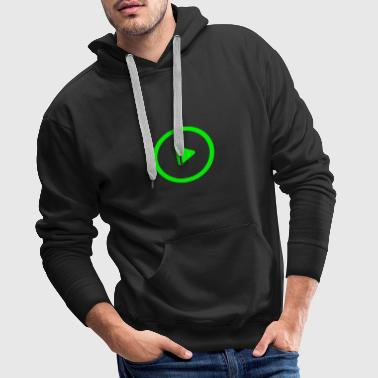 Play button - Men's Premium Hoodie