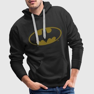 Batman DC Comics Batman Logo in gold-metallic Optik - Männer Premium Hoodie