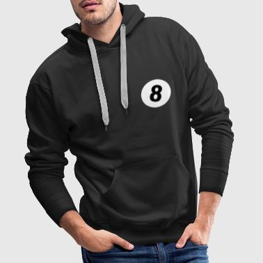 8 ball - pool design - Sweat-shirt à capuche Premium pour hommes