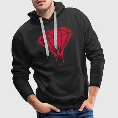 Dripping Diamond - Men's Premium Hoodie