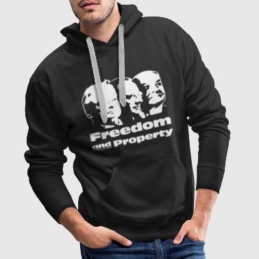 Freedom and Property - Männer Premium Hoodie