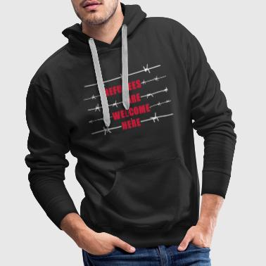 Refugees are welcome here - Sudadera con capucha premium para hombre