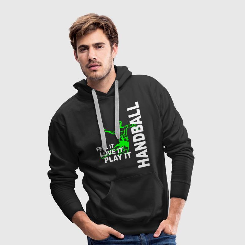 Handball - feel it, love it, play it - Männer Premium Hoodie