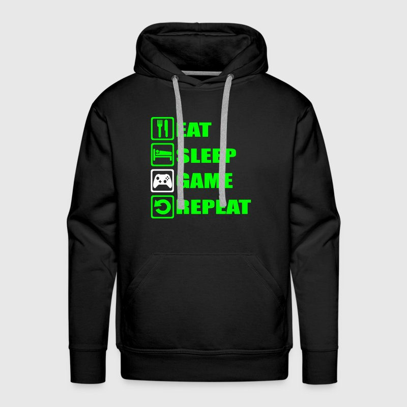 EAT SLEEP GAME REPEAT - Men's Premium Hoodie
