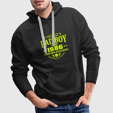 Bad Boy Since 1986 - Bluza męska Premium z kapturem