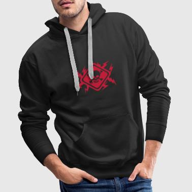 Skull flash lightning panel - Men's Premium Hoodie