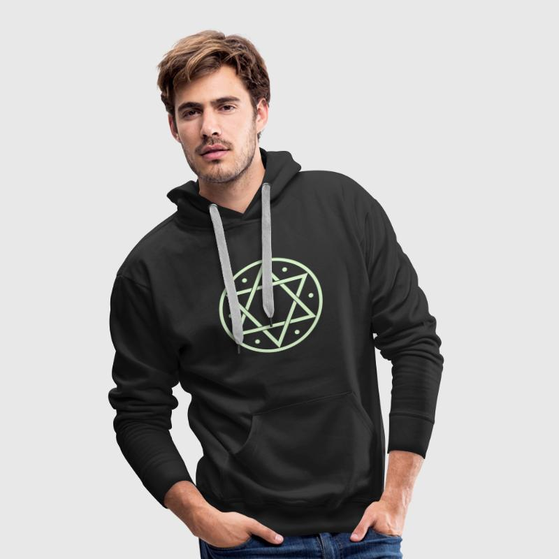 Hexagram, Magic, Merkaba, David Star, Yin Yang - Sudadera con capucha premium para hombre