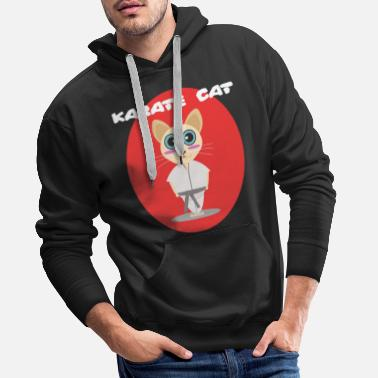 Boks Tajski Karate Cat Cat Kitty Meow Sport Training - Bluza męska Premium z kapturem