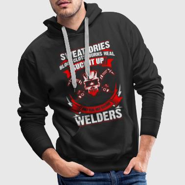 Only Real Men - Welder - EN - Sweat-shirt à capuche Premium pour hommes