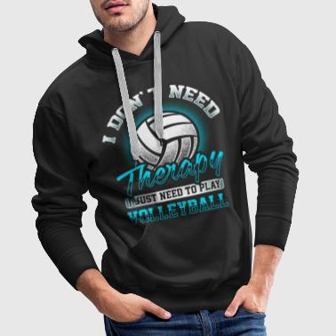 Volleyball - Therapy - Bluza męska Premium z kapturem