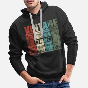Music Is Life Muziekcassette Vintage Old school Music is Life - Mannen Premium hoodie