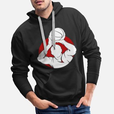 Americana Basketball Sports Things Athletic Streetball Basket - Men's Premium Hoodie