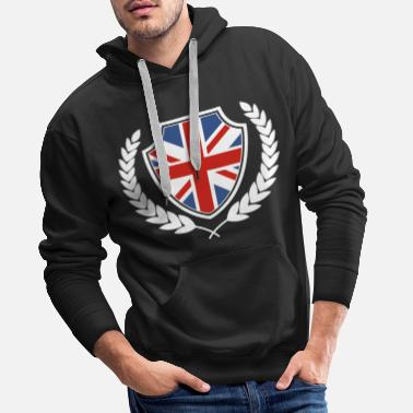 Flag Great Britain British national colors origin - Men's Premium Hoodie