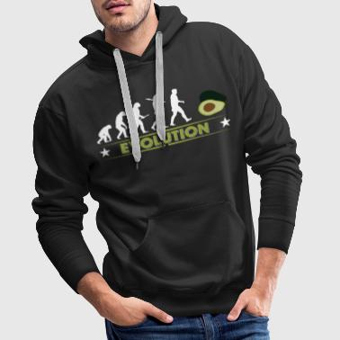 Avocado Evolution - gruen/weiss - Sweat-shirt à capuche Premium pour hommes