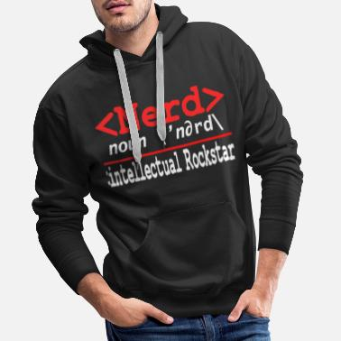 Clever Geeky Nerdy Streber Math Computer IT University - Men's Premium Hoodie