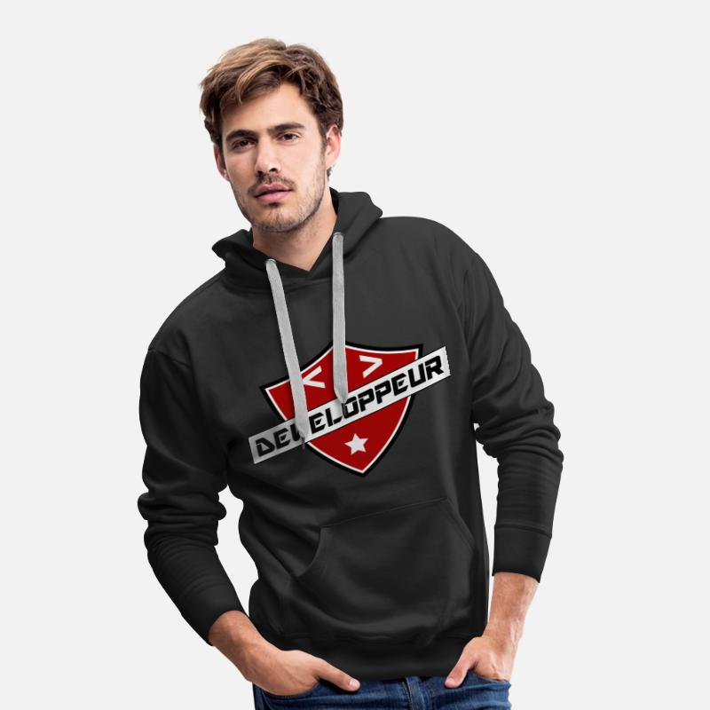 Informatique Sweat-shirts - blason developpeur - Sweat à capuche premium Homme noir