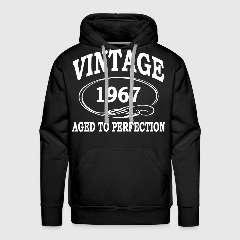 Vintage 1967 Aged To Perfection - Men's Premium Hoodie
