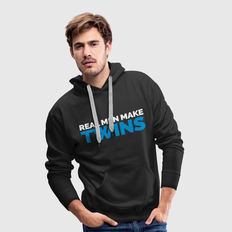 Real Men Make Twins - Bluza męska Premium z kapturem