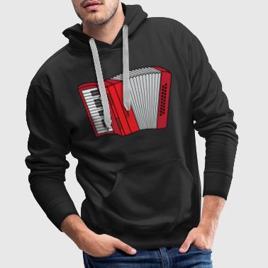 Accordeon Accordeon Volksmuziek musi Zieharmonika - Mannen Premium hoodie