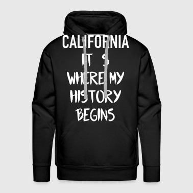 CALIFRONIA USA HISTORY LOVE LOS ANGELES - Premium hettegenser for menn