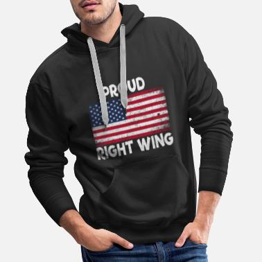 Deer Hunter Proud Right Wing Gift - Men's Premium Hoodie