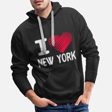 Exchange I Love New York NY Tourist GIft - Men's Premium Hoodie