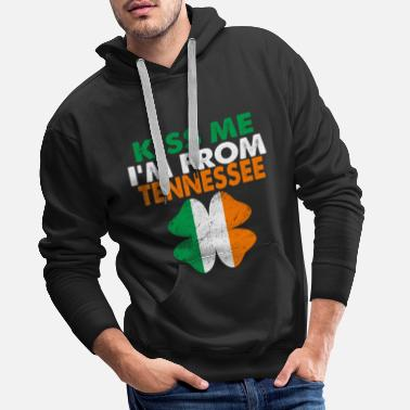 Bar Kiss Me Im From Tennessee - Men's Premium Hoodie