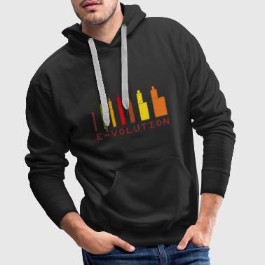 Vaping Vape Design Color Ecigs - Men's Premium Hoodie