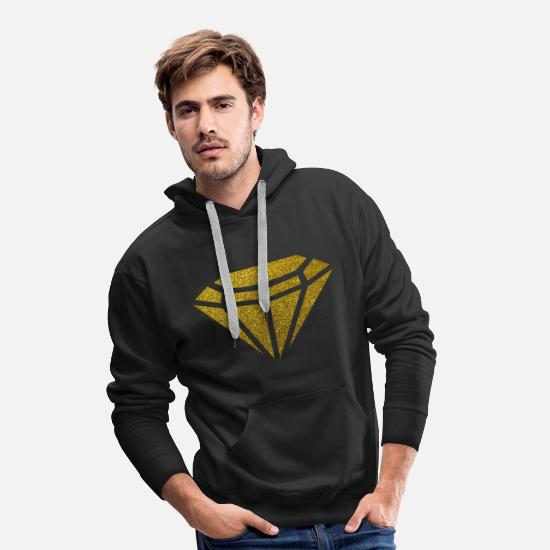 Street Hoodies & Sweatshirts - Golden Diamond - Golden Diamond Glitter Gold - Men's Premium Hoodie black