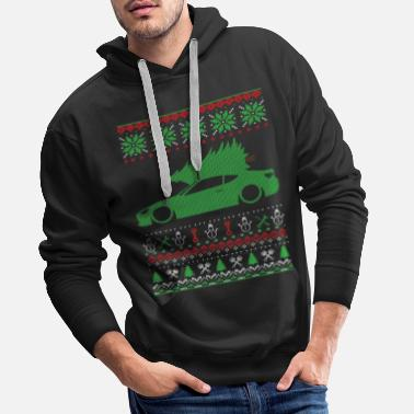 Tuning Christmas Ugly Sweater - Bluza męska Premium z kapturem