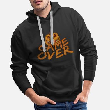 Game Over Game Over Gaming Halloween - Sweat-shirt à capuche Premium pour hommes