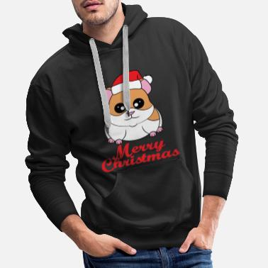 Fan of Guinea Pig and Christmas? Have them both - Men's Premium Hoodie