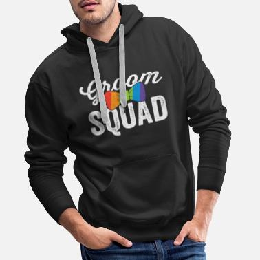 Bridesmaid Groom Squad Shirt LGBT Pride Gay Bachelor Wedding - Men's Premium Hoodie