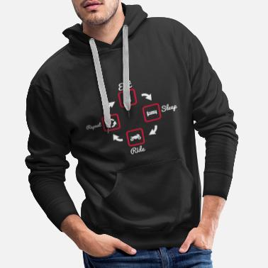 Eat Sleep Ride Repeat,Motorcycle,motorbike - Mannen Premium hoodie