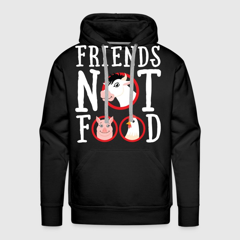Friends Not Food | Vegan Statement - Männer Premium Hoodie