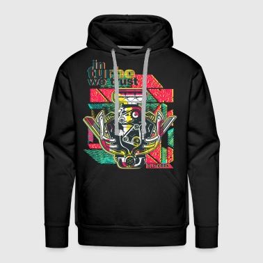 in turbo we trust, engine block, V6, mechanic - Men's Premium Hoodie