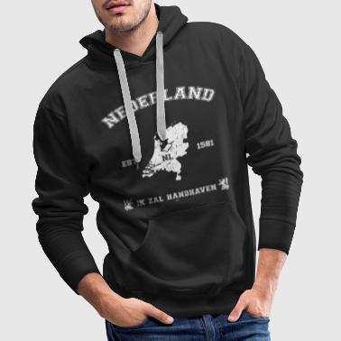 Netherlands Map - Men's Premium Hoodie