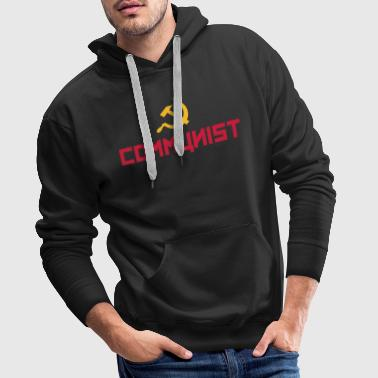 Communist with hammer and sickle - Sudadera con capucha premium para hombre