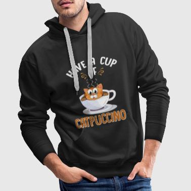Crazy Cat Lady Have A Cup Of Catpuccino Gift - Men's Premium Hoodie