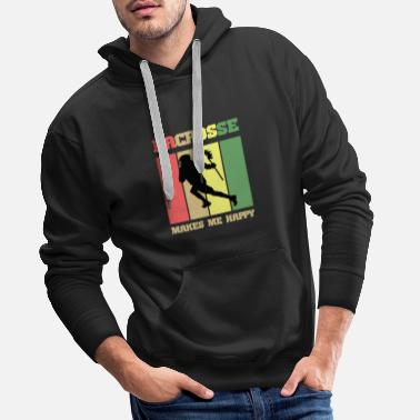 Lacrosse lacrosse makes me happy - Men's Premium Hoodie