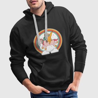 Sloth Unicorn Rainbow Glitter Unicorn - Men's Premium Hoodie