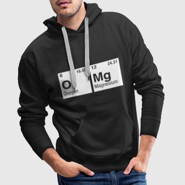 OMg written with Elements of the Periodic Table - Men's Premium Hoodie