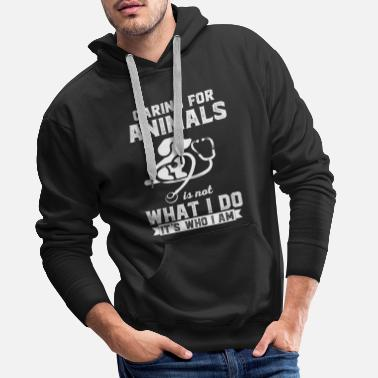 Stockman Love of animals - veterinarian - stockman - poison - Men's Premium Hoodie