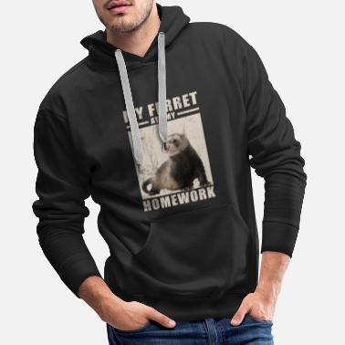 Graphic My Ferret Ate My Homework TShirt for Ferrets - Men's Premium Hoodie