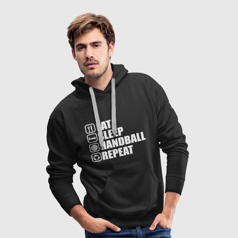 eat,sleep ,handball, repeat - Männer Premium Hoodie