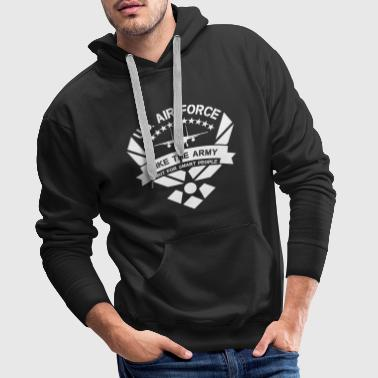 U.S. Air Force like the Army but for smart people - Sweat-shirt à capuche Premium pour hommes