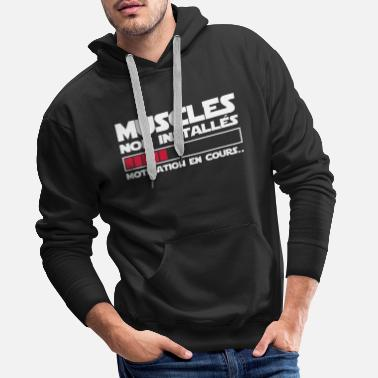 Muscle motivation en cours - Sweat-shirt à capuche Premium pour hommes