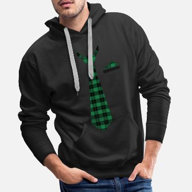 Tie cloth in checkered green lumberjack - Men's Premium Hoodie